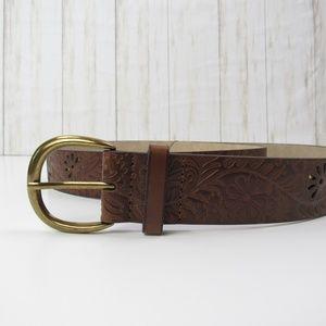Kohl's Floral Brown/Cognac Belt XL